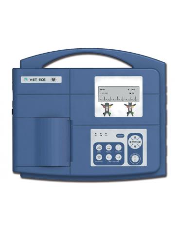 ECG veterinaria VE-100 - 3 canali, display LCD, batteria ricaricabile integrata