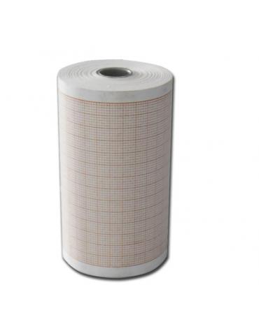 Carta termica ECG 80x25 mmxm - rotolo griglia arancio - ccod. DN34723
