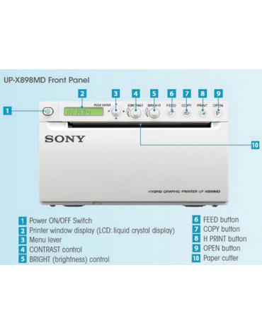 Stampante in bianco e nero SONY UP-x898 MD, per ecografi della serie ECO (per ECO1 e ECO3EXP.) mm 154x240x88h