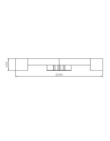 Panchina Stella piana con design pregiato in acciaio e legno, finitura zincata e verniciata - cm 170x92x45h