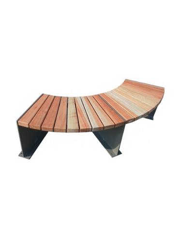 Panchina Amburgo circolare in acciaio e legno con finitura acciaio zincato e verniciato - cm 122x470x450h