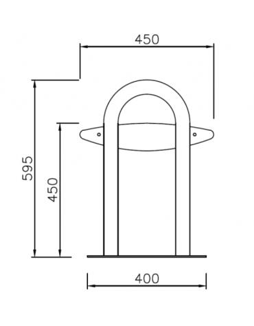 Panchina senza schienale, realizzata in acciaio zincato e verniciato. Da tassellare - cm 178,6x45x59,5h