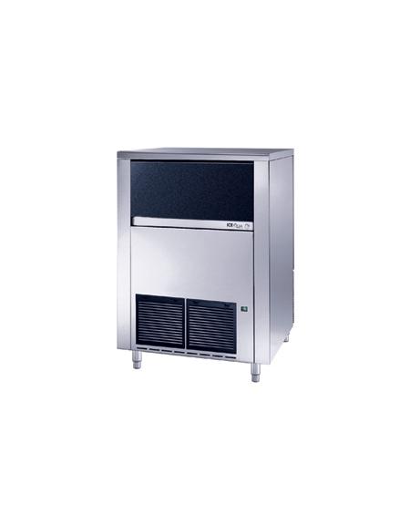 Produttore fabbricatore di ghiaccio a cubetti pieni 130Kg/24h