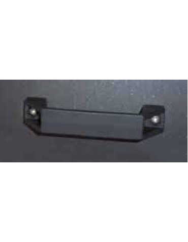 Maniglia per cestino di forma quadra con porta, colore nylon nero - cod. 34944