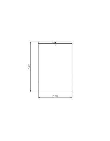 Cestino portarifiuti di forma rettangolare in acciaio zincato e verniciato - cm 57x30,5x84,7h