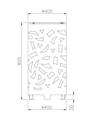 Cestino portarifiuti dal design originale in acciaio zincato e verniciato - cm Ø 40,5x80,5h