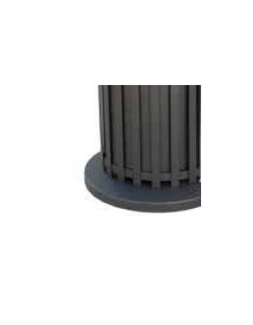 Cestino portarifiuti di forma cilindrica in acciaio zincato e verniciato, base in ferro - cm Ø57xØ50x104,5h