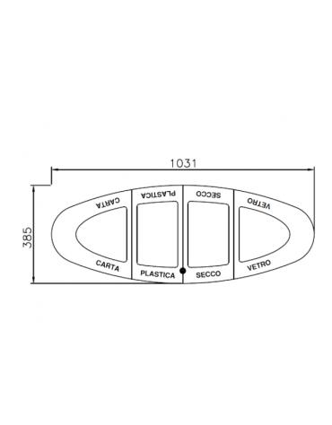 Coperchio spegnisigarette in acciaio zincato e verniciato per cod. 35058