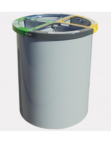 Base in cemento per cestino portarifiuti differenziati cod. DN35061 - DN35062
