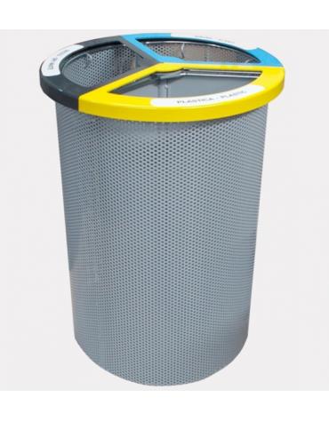 Base in cemento per cestino portarifiuti differenziati cod. DN35064 - DN35065