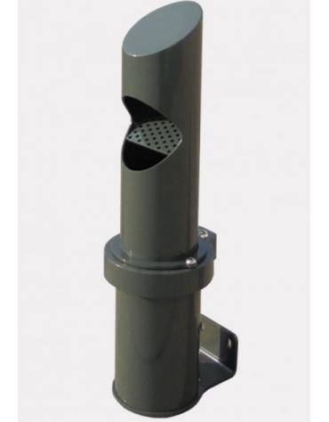 Spegnisigarette in acciaio zincato e verniciato di forma cilindrica. Da fissare a muro - cm Ø12,1x56h