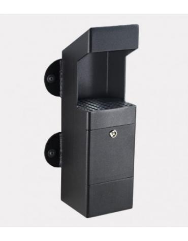 Spegnisigarette realizzato in acciaio zincato e verniciato di forma tubolare di acciaio. Da tassellare - cm 15x15x50,5h