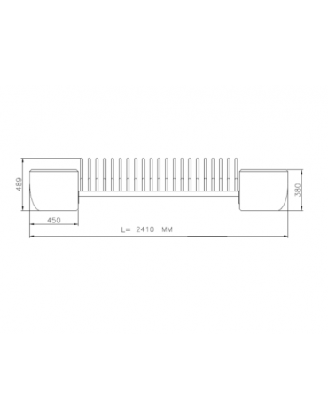 Portabici con fioriere laterali e una rastrelliera di elementi in tubolare di acciaio zincato e verniciato - cm 241x55x48,9h