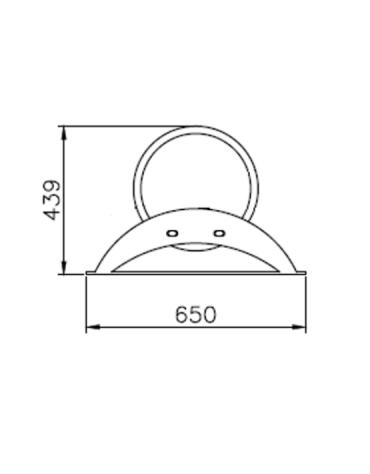 Portabici 5 posti realizzato interamente in acciaio inox. Da tassellare - cm 195,2x65x43,9h