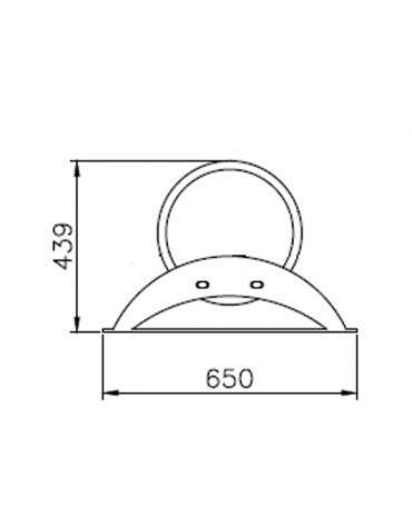 Portabici 7 posti realizzato interamente in acciaio inox. Da tassellare - cm 238,2x65x43,9h