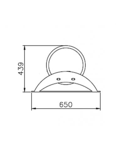 Portabici 9 posti realizzato interamente in acciaio inox Da tassellare - cm 282,2x65x43,9h