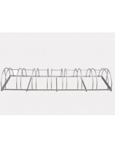 Portabici 4 posti costituito da una rastrelliera di tondini in acciaio zincato a caldo - cm 91,6x54x31,4h
