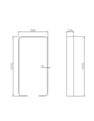 Portabici singolo realizzato in acciaio zincato e verniciato. Da inghisare - cm 50x12x101h