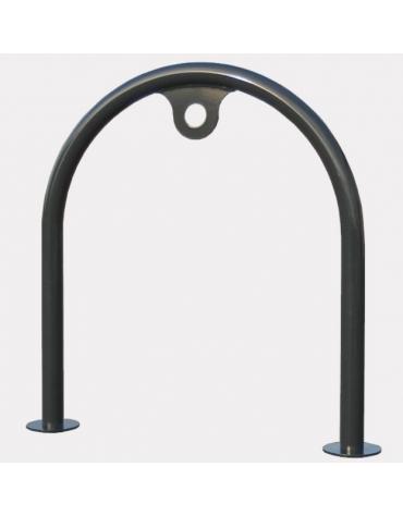 Portabici singolo realizzato ad archetto in acciaio zincato e verniciato. Da inghisare 72x8x80h