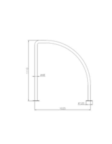 Portabici ad 1-2 posti in acciaio inox. Da inghisare - cm 102,5x100h
