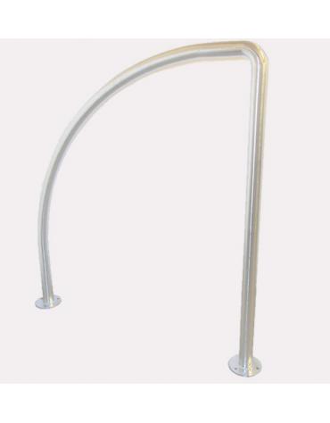 Portabici ad 1-2 posti in acciaio inox. Da tassellare - cm 102,5x100h