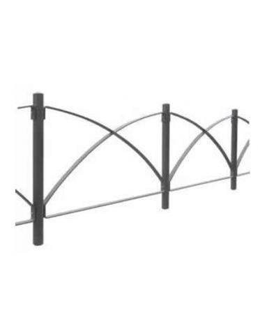Barriera in tubolare acciaio zincato e verniciato. Supporto di mezzo da inghisare - cm 8x100h