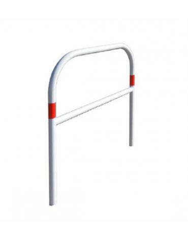 Barriera con piegatura a freddo di tubolare in acciaio Ø48 a forma di U rovesciato, con traverso, da inghisare - cm 100x120h