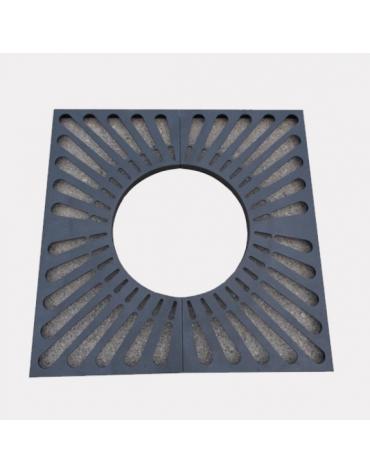Griglia salvapiante quadrato, interamente in acciaio zincato e verniciato - cm 120x120xØint.60