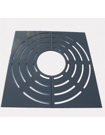 Griglia salvapiante interamente in acciaio zincato e verniciato - cm 150x150xØint.70