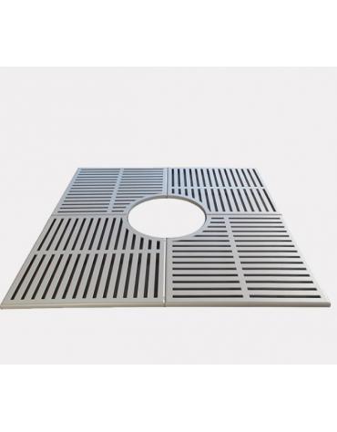 Griglia salvapiante interamente in acciaio zincato e verniciato - cm 120x120xØint.60