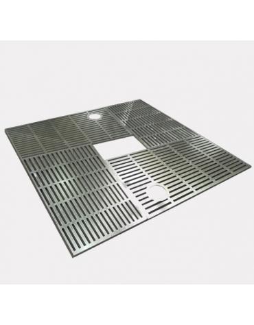 Griglia salvapiante interamente in acciaio zincato e verniciato - cm 100x100xØint.50