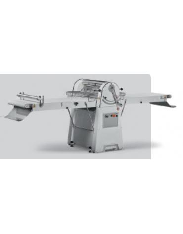 Sfogliatrice manuale per pasticceria professionale a tappeti motorizzati da cm 60x71