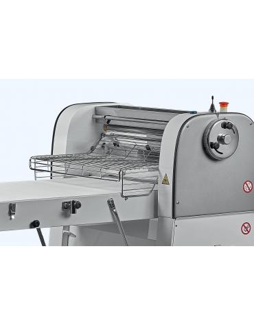 Sfogliatrice meccanizzata per pasticceria professionale con tappeti da cm 60x120 - N° 2 Velocita'