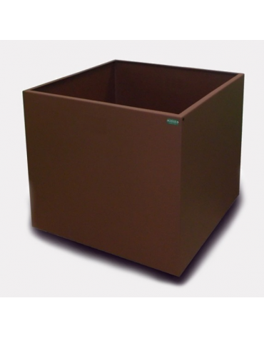 Fioriera quadrata in acciaio zincato e verniciato - CM 50X50X50H
