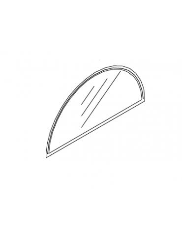 Timpano pensilina in alluminio e policarbonato alveolare trasparente per pensilina - cod. DN35473/74/75/76/77/78