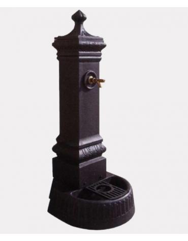 Fontana con struttura in ghisa, completa di rubinetto in ottone e caditoia in ghisa - cm 41,5x46,5x110h