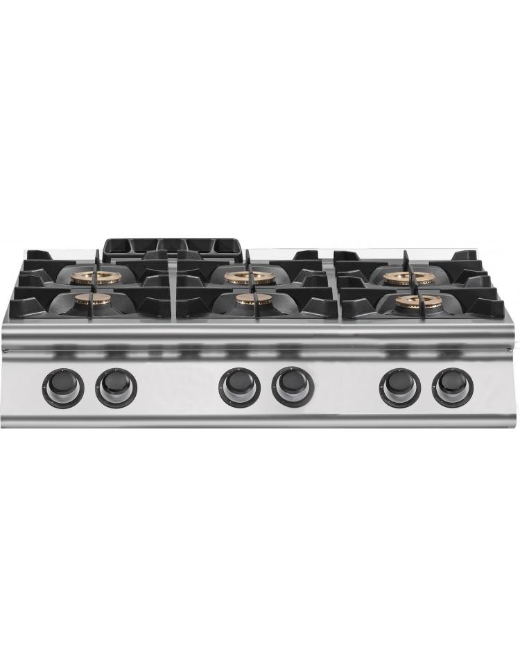 Cucina inox a gas da banco 4 fuochi professionale per - Cucina a gas da 90 ...