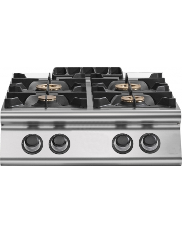 Cucina inox a gas da banco 6 fuochi da 28,5 Kw