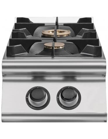 Cucina a gas da appoggio 2 fuochi da 9,5 Kw
