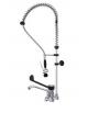 Monoforo miscelatore, doccia + canna con comando leva clinica nera