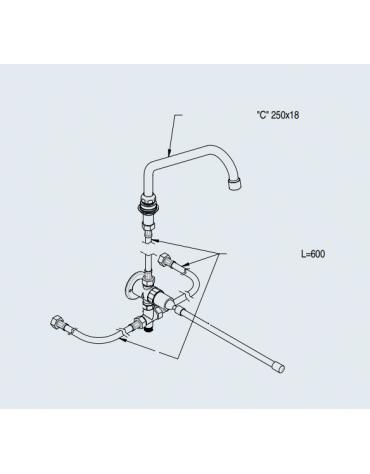Kit rubinetto con comando a ginocchio
