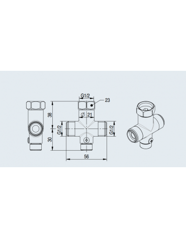 Pre miscelatore per rubinetti temporizzati ed elettronici da 1/2