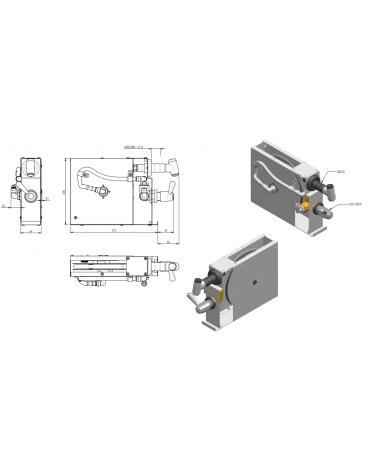 Doccia avvolgibile rapid - mm 273x64x208h