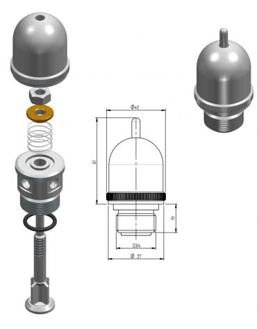 Valvola di pressione 3/4 - 0,02 BAR