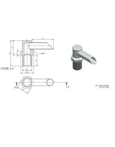 Erogatore Acqua cp 700/900 - mm Ø 14x58