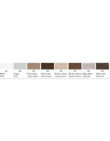 Contenitore medio - anta legno con serratura - cm 90x45x119h