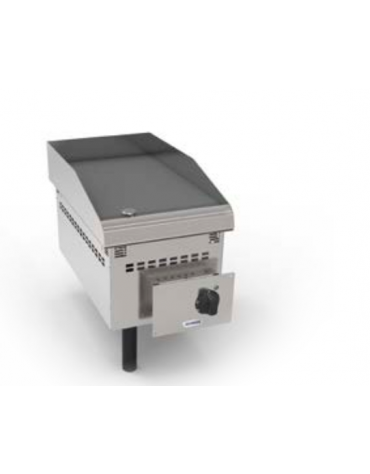 Fry top elettrico da incasso, piastra liscia, range temp. 50÷320 °C - sup. di cottura cm 34,6x56,4  - dim. 35x60x21h