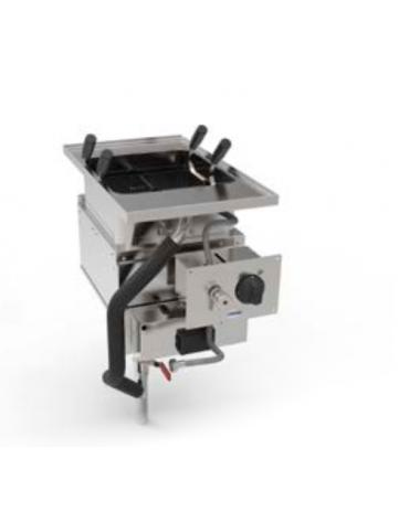 Cuocipasta elettrico GN 2/3 trifase-4.8kw da incasso, in acciaio in acciaio inox AISI 316 da 23 litri di capacità - cm 35x60x80h