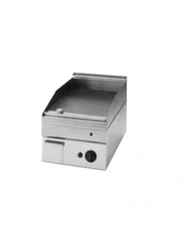 Fry top elettrico trifase-3.9kw da incasso, piastra liscia, r. temp. 50÷320 °C - sup. di cottura cm 34,6x56,4  - dim. 35x60x30h