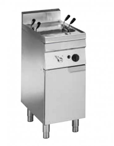 Cuocipasta a gas GN 2/3, in acciaio in acciaio inox AISI 316 da 23 litri di capacità - cm 35x60x85h